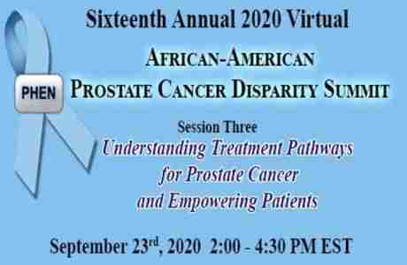 16th Annual African American Prostate Cancer Racial Disparity Summit (FREE) in Atlanta on 23 Sep