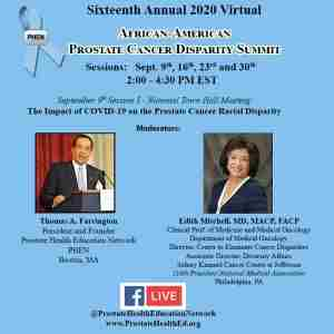 PHEN National Town Hall Meeting: COVID 19 and Prostate Cancer - 2020 Virtual Summit (FREE) in Philadelphia on 9 Sep