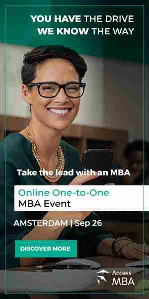 Discover a world of MBA opportunities online with Access MBA on the September 26th in Amsterdam on 26 Sep