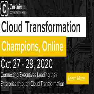 Cloud Transformation Champions, Online in New York on 27 Oct