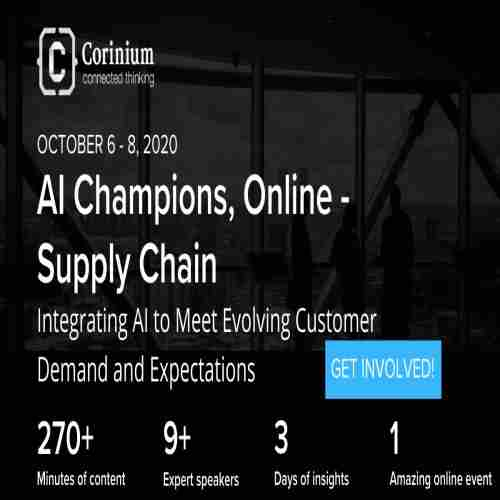 AI Champions, Online - Supply Chain in New York on Tuesday, October 6, 2020