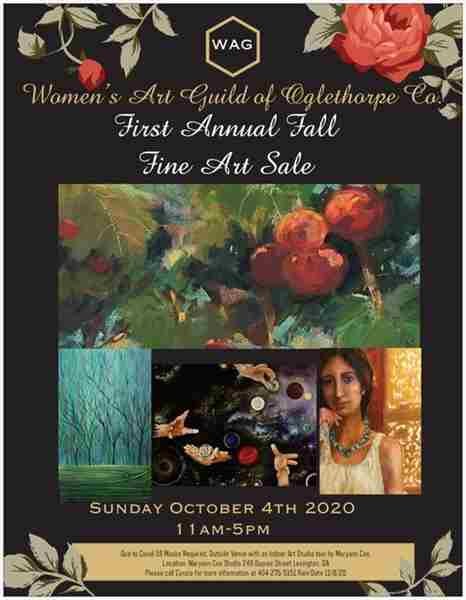 First Annual Fall Fine Art Sale Sunday October 4,2020 11-5 Lexington, GA in Oglethorpe on 4 Oct