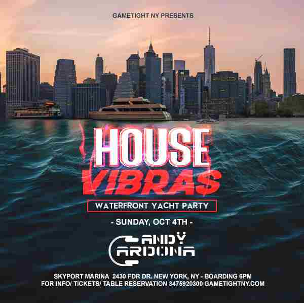 House EDM Sunset Yacht Party End of Summer at Skyport Marina Jewel Yacht in New York on 4 Oct