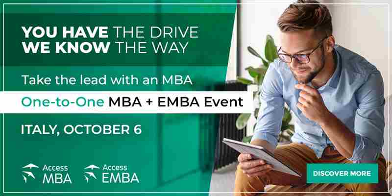 Meet top international MBA and EMBA programmes from home on October 6th in Italy on 6 Oct