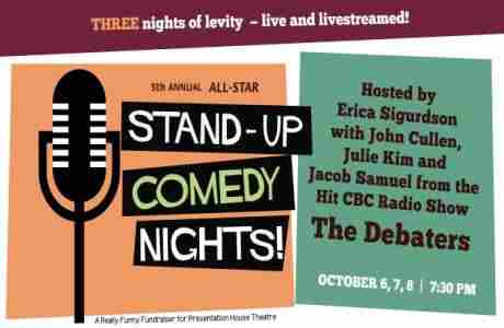 5TH Annual All-Star Stand-Up Comedy Night @ Presentation House Theatre Centre in North Vancouver on 6 Oct