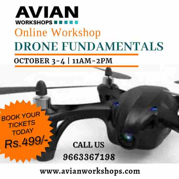 Online Workshop for Drone Fundamentals in bangalore on 3 Oct
