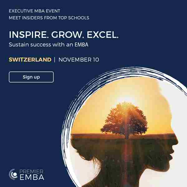 Move Your Leadership Forward with the Executive MBA in Geneva on 10 Nov