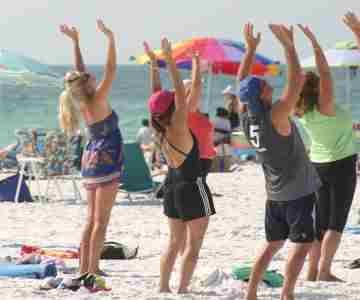 YOGA ON SIESTA KEY PUBLIC BEACH in Florida on 26 Oct
