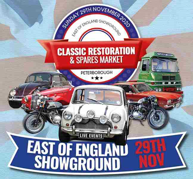 The Classic Restoration & Spares Market in Peterborough on 29 Nov