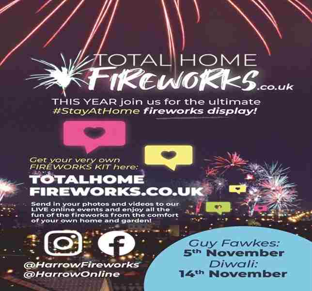 Great big STAY AT HOME fireworks display, London and Harrow. in London on 5 Nov
