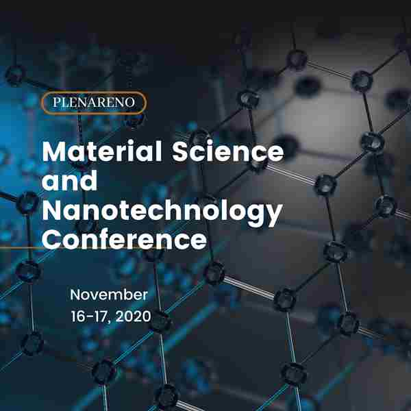Plenareno Materials Science and Nanotechnology Conference in Istanbul on 16 Nov