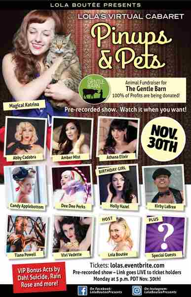 Lola Boutée's Virtual Cabaret Pinups and Pets Animal Fundraiser in Los Angeles on 30 Nov