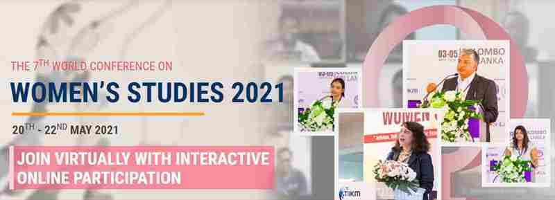 The 7th World Virtual Conference on Women's Studies (WCWS 2021) in colombo on 20 May