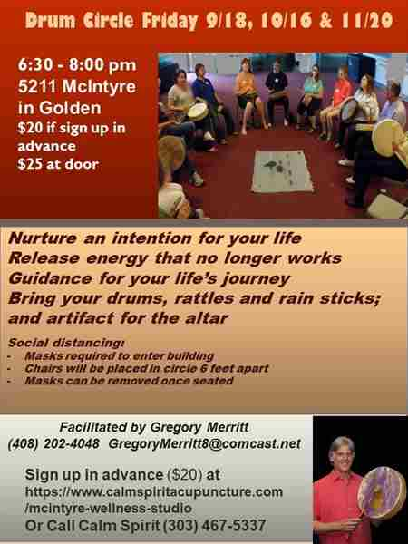 Join Sacred Drum Circle and Receive Divine Guidance in Golden on 20 Nov