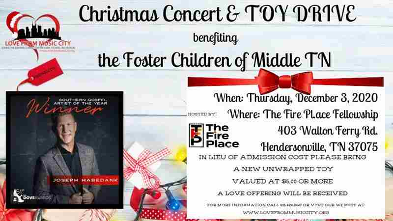 Christmas Concert and Toy Drive with Grammy award winning artist Joseph Habedank in Hendersonville on 3 Dec
