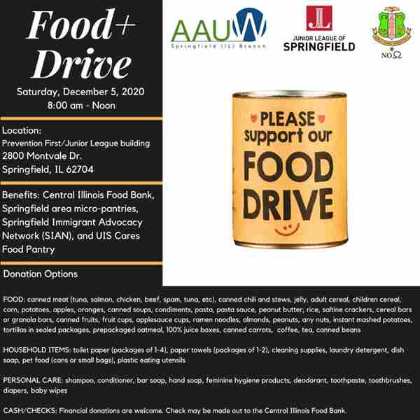 Food Drive in Springfield on 5 Dec
