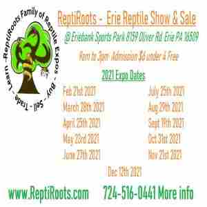Erie Reptile Show and Sale March 28th 2021 in Erie on 28 Mar