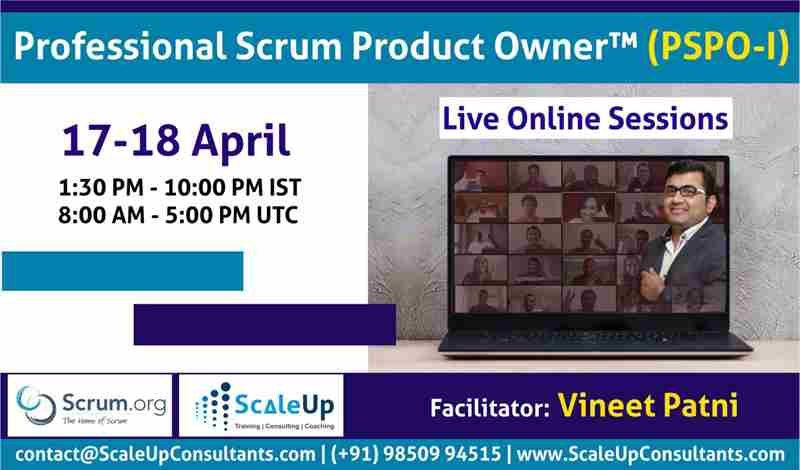 Professional Scrum Product Owner (PSPO-I) in sudney on 17 Apr