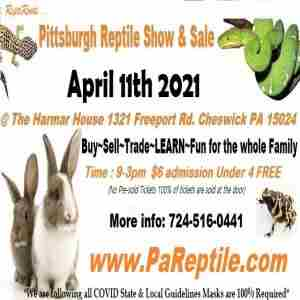 Pittsburgh Reptile Show and Sale April 11th 2021 in Cheswick on 11 Apr