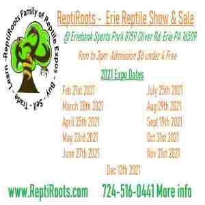 Erie Reptile Show and Sale April 25th 2021 in Erie on 25 Apr