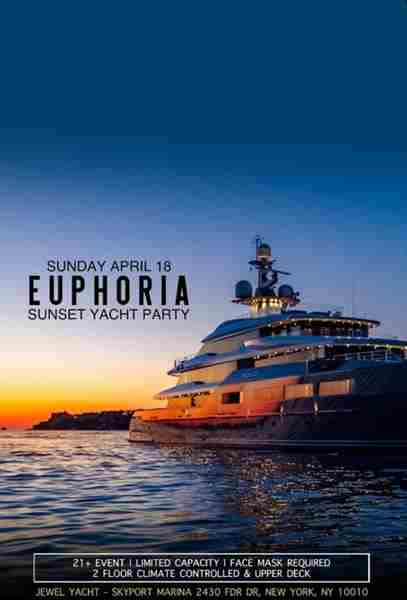 House EDM Sunset Yacht Party Sunday Cruise at Skyport Marina Jewel Yacht in New York on 18 Apr