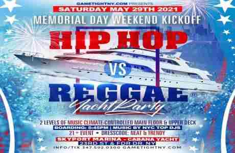 NYC MDW Hip Hop vs Reggae® Sunset Cruise Skyport Marina Cabana Yacht - 29th May in New York on 29 May