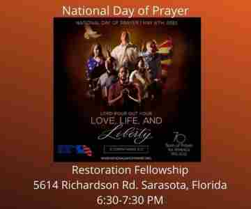 Sarasota's National Day Of Prayer Outside Happening in Sarasota on 6 May