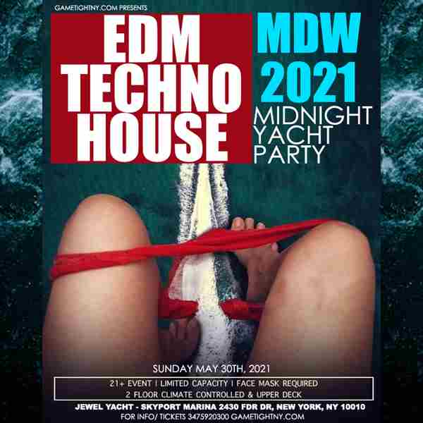 Memorial Day Weekend EDM Midnight Yacht Party Sunday Funday Cruise in New York on 30 May