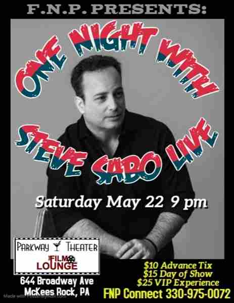 One Night of Comedy with Steve Sabo in McKees Rocks on 22 May